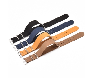 18mm 20mm 22mm 24mm One Piece Leather Watch Band