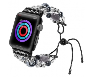CBAW03 iWatch Handmade Artificial Agate Beaded Watch Bracelet