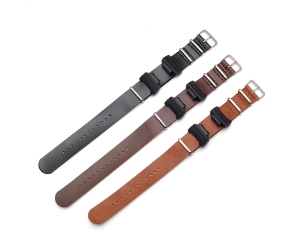 CBCS01-P3 22mm One Piece PU Leather Watch Strap For Casio G Shock Watch Leather Band