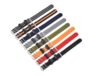 CBCS01-T5 Wholesale 22mm Braided Nato Nylon Striped Watch Strap For Casio G-shock Watchband