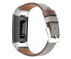 CBFC08 Classic Genuine Leather Wristband Strap For Fitbit Charge 3
