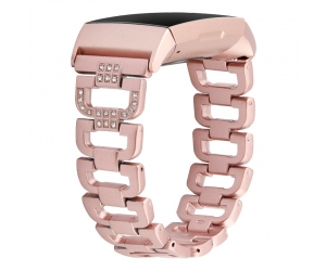 CBFC11 Metal Rhinestone Bracelet Strap For Fitbit Charge 3