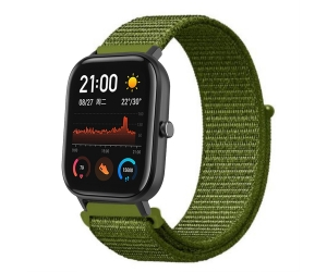 CBHA-104 20mm Sport Loop Nylon Watch Strap For Xiaomi Huami Amazfit GTS