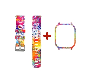 CBHA-110 Colorful Printed Silicon Watch Strap For Xiaomi Huami Amazfit GTS