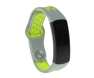 CBHW04 Double Colors Breathable Sport Silicone Watch Strap For Huawei Honor 3
