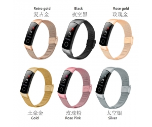 CBHW12 Mesh Stainless Steel Smart Watch Band For Huawei Honor 4 Strap