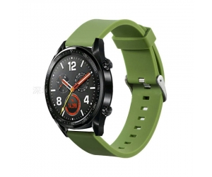 CBHW22 Solid Color Silicone Smart Watch Band For Huawei Watch GT