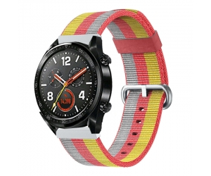 CBHW29 Muilt-color Striped Nato Nylon Watch Band para Huawei Watch GT