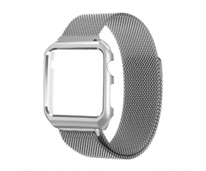 CBIW1027 Trendybay Magnetic Milanese Loop Stainless Steel Band With Matelasse Case