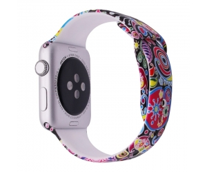 CBIW1050 Trendybay Pattern Printed Sport Soft Rubber Watch Strap For iWatch