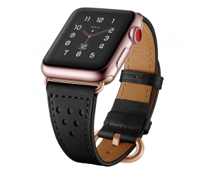 CBIW1060 Trendybay Genuine Leather Strap For Apple Watch Band 4/3/2/1