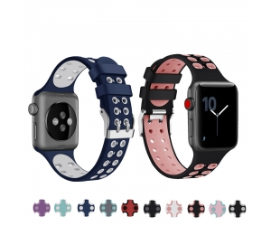 CBIW131 Colorful Sport Soft Silicone Replacement Band For Apple Watch Series 1 2 3