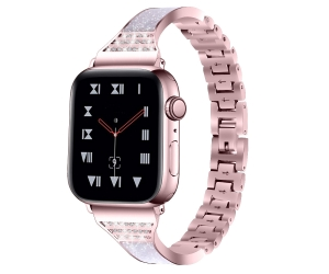 Bandas de reloj de metal CBIW213 Fashion Bling Rhinestone para Apple Watch Series 5 4 3 2 1