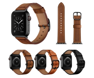 CBIW235 Bandas de reloj de cuero genuino para Apple Watch Series 3 4 5 6 Correas