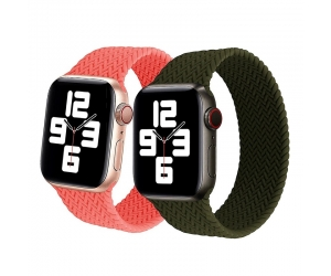 CBIW240 Elastic Silicone Watch Band Braided Solo Loop Strap For Apple Watch Band Series 6 5 4 3 2 1