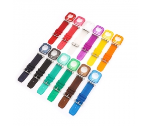 CBIW241 Wholesale 2 in 1 Clear TPU Strap + Case Bandas For Apple Watch Bands 38mm 40mm 42mm 44mm