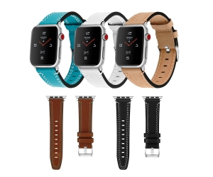 CBIW261 Womens Mes Genuine Leather Strap For Apple Watch Series SE 6 5 4 3 44mm 40mm 42mm 38mm