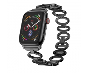 CBIW44 Oval en forma de banda de reloj de acero inoxidable para Apple Watch