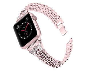 CBIW72 Luxury Alloy Watch Band For iWatch Smart Watch Strap