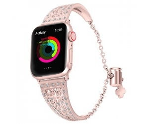 Bandas de reloj CBIW78 Dressy Diamond Cuff para Apple Watch 38mm 42mm 40mm 44mm
