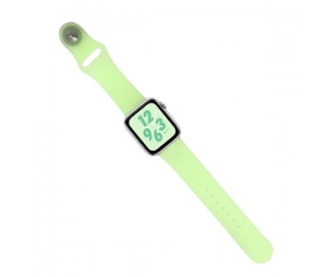 CBIW80 Translucent Candy Color Silicone WatchBand For Apple Watch 38mm 42mm 40mm 44mm