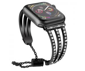Bandas de reloj CBIW84 Bling Diamond para Apple iWatch Series 1 2 3 4 5