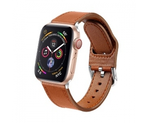 CBIW87 Genuine Leather Watch Band For Apple Watch Series 5 4 3 2 1