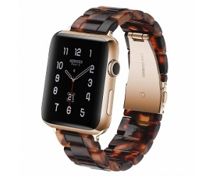 CBIW90 Fashion Resin Watchband  For Apple Watch Band Series 5 4 3 2 1