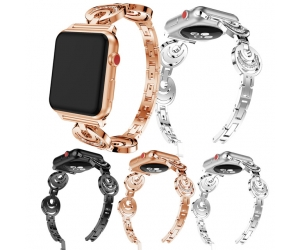 CBIW902 Fashion Women Sun Moon Crystal Bracelet Band Strap for Apple Watch