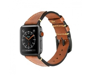 Bandas de reloj de cuero genuino de grano superior CBIW93 para Apple Watch