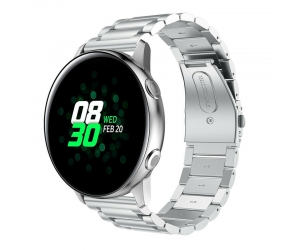 CBSW18 Banda de reloj de cadena de metal de 3 enlaces para Samsung Galaxy Watch Active