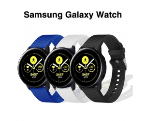 CBSW21 Sport Silicone Rubber Wrist Watch Strap For Samsung Galaxy Watch Active