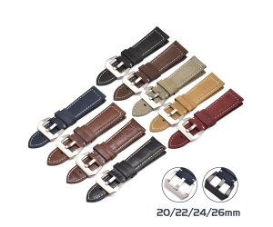 CBUS302-PDH2 Luxury 20mm 22mm 24mm 26mm Genuine Leather Watch Band