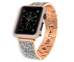 CBWB70 Trendybay Bling Jewelry  Rhinestone Stainless Steel Strap For Apple Watch 4 3 2 1