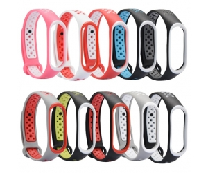 CBXB360 Xiaomi Mi Band 3 Double Color Silicone Replacement Wristband