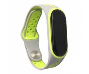 CBXM349 Double Color Sport Silicone Rubber Wrist Strap For Xiaomi Mi Band 3 Strap