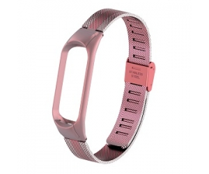 CBXM438 Mesh Stainless Steel Smart Watch Strap For Xiaomi Mi band 4 3