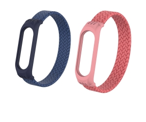 CBXM565 Elastic Bracelet Braided Solo Loop Strap For Xiaomi Mi Band 3 4 5 Wristband