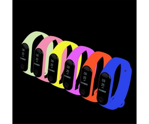 CMXM341 Luminous Sport Colorful Silicone Watch Strap