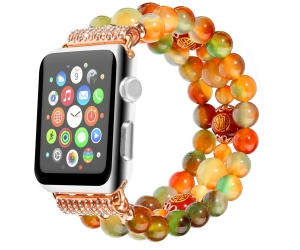 Classy Retro Sports Agate Beaded Bracelet  Apple Watch Band