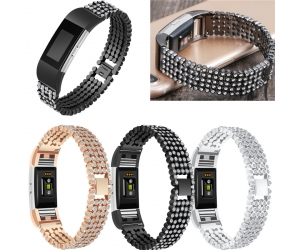 Crystal Rhinestone Diamond Stainless Steel Watch Band Bracelet Strap