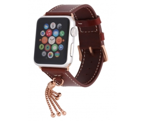 Elegant Pendant Leather Replacement Watch Strap