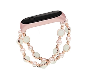 Luminous Agate Beads Wrist Strap For Xiaomi Mi Band 3