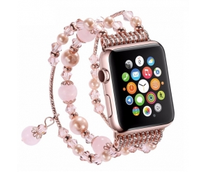 Luxury Decorated Handmade Women Jewelry Agate Stone Replacement Apple Watch Straps