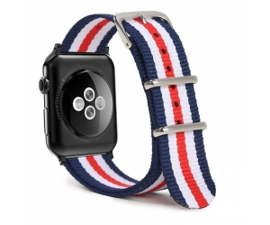 Nato04 Trendybay Customized Striped Fabric Nylon Nato Watch Strap For Apple Watch
