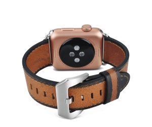 Vintage Genuine Leather Apple Watch Band Replacement  Wristband