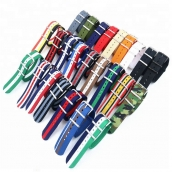 China CBAW09 Muilt-color Luxury Striped Nylon Nato Watch Strap factory