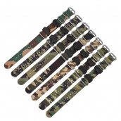 China CBCS01-YC Premium Woven Camo Camouflage Nylon Watch Strap For Casio Gshock Watchband factory