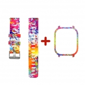 China CBHA-110 Colorful Printed Silicon Watch Strap For Xiaomi Huami Amazfit GTS factory