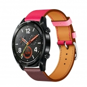 China CBHW30 Single Tour Contrast Color Geniune Leather Watch Band  For Huawei Watch GT factory